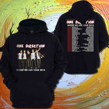 one direction shirt where we tour 2014 Hoodie For Women Men - Two Side Printing