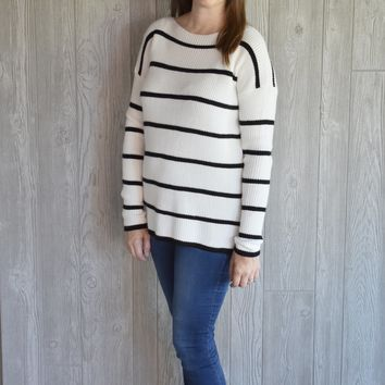 Cold Days Ahead Striped Sweater