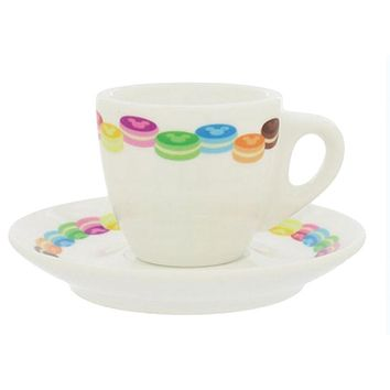 disney france paris epcot espresso coffee cup plus saucer mickey macarons new