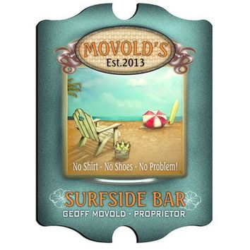 Vintage Series Personalized Sign - Surfside Bar