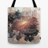 Do Not Feel Lonely Tote Bag by Mockingbird Avenue