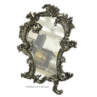 Fabulous & Baroque ? French Gilt 'Claudette' Mirror- Silver Leaf