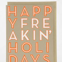 Fig. 2 Design Happy Holiday Card - Urban Outfitters