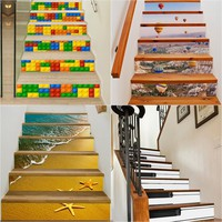 DIY 3D Staircase Stickers Tiles Stickers Decorate Kids Room Waterproof Wall Sticker