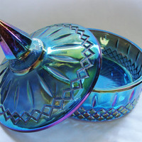Indiana Carnival Glass Candy Dish