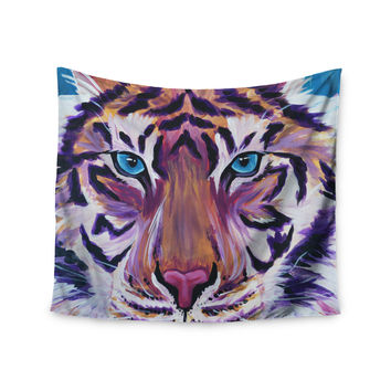 "Brienne Jepkema ""Purple Tiger"" Orange White Wall Tapestry"