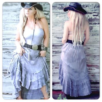Spell bohemian gypsy maxi dress, purple halter vacation dress