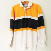 Vintage 1990s Lands' End Rugby Polo Shirt