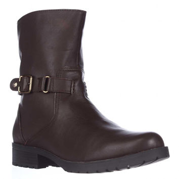 Anne Klein Crayton Mid-Calf Fasion Boots - Dark Brown