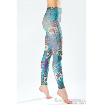 Light and Colorful Print Leggings