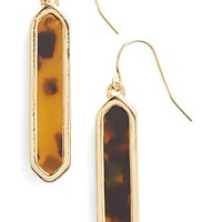 Women's Lauren Ralph Lauren Faux Tortoiseshell Drop Earrings - Brown