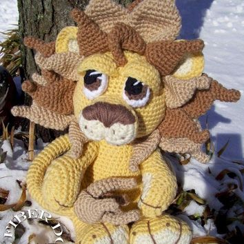 Maximus the Amigurumi Lion PATTERN by K4TT on Etsy