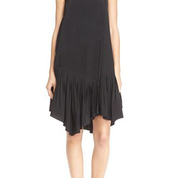 Tibi Pleated Silk Sheath Dress | Nordstrom