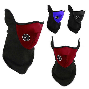 Dustproof Skiing Outdoors Suede Face Mask [10250097612]