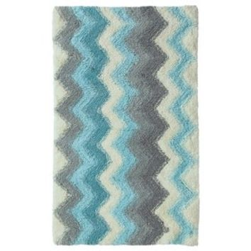 Threshold™ Watercolor Chevron Bath Rug