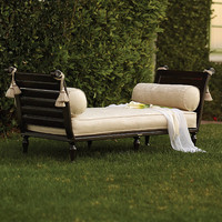 British Colonial Bench with Cushion