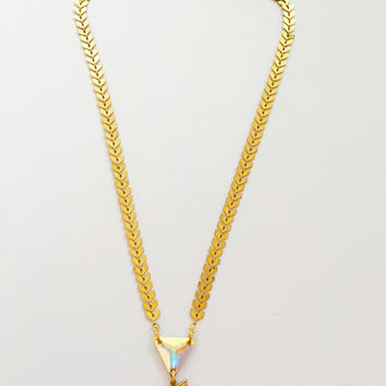 Gold Hologram Unicorn Necklace