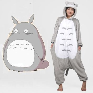 Women Rainbow Unicornio Pijama Full Flannel Totoro Pajamas Pyjamas Womens Adult Costumes Sleepwear Home Clothing Plus Size