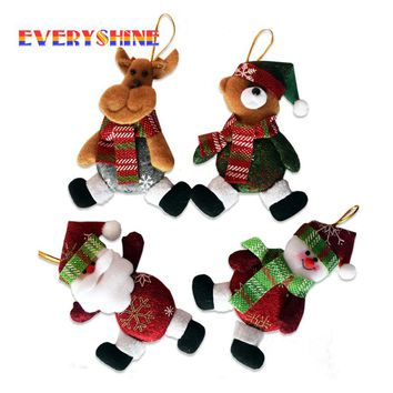 5pcs/lot  Xmas Gifts Christmas Tree Hanging Ornaments Santa Claus Pendants Drop Decorations for Home Length 11cm SD342
