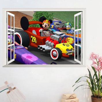 New Mickey Mouse Minnie Mouse cartoon wall sticker for children room nursery decoration diy removable vinyl wallpaper