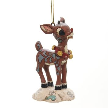 Jim Shore Rudolph The Red-Nosed Reindeer. Resin Ornament