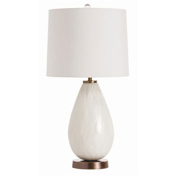 Arteriors Home 46984-980 Jane Mercury Frosted Glass and Vintage Brass lamp