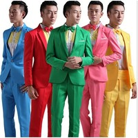 Suit Men Long-Sleeved  Hosted Theatrical Tuxedos M L XL