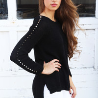Lined In Spikes Knit