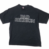 Vintage Bad Religion T Shirt 90s Concert Tee