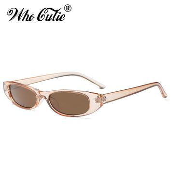 2018 Small Rectangular Sunglasses Women Brand Designer Vintage Narrow Leopard Frame 90S Chic Rectangle Sun Glasses Shades OM633
