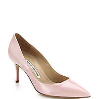 Manolo Blahnik - Scoop Patent Leather Pumps - Saks Fifth Avenue Mobile