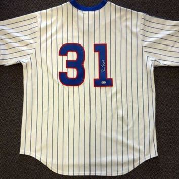 Greg Maddux Signed Autographed Chicago Cubs Baseball Jersey (MLB Authenticated)