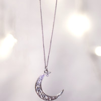 Lunar Eclipse Moon Necklace