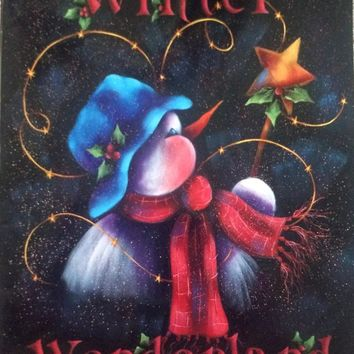 Winter Wonderland- Decorative Painting Book -  Susie Saunders  -  1994 - How to Book - Arts & Crafts