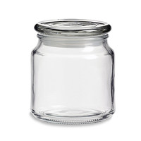 CannaKeeper Stash and Storage Glass Jar with Airtight Lid - 16 oz capacity