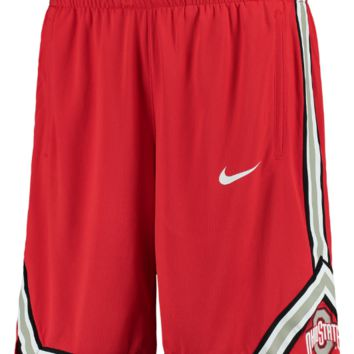 Nike Ohio State Buckeyes Red On Court Replica Basketball Shorts