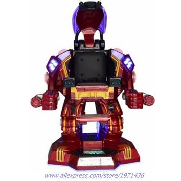 Indoor Outdoor Playground Equipment Teenagers Adults Electronic Walking Robot Iron Man Simulator Game Machine