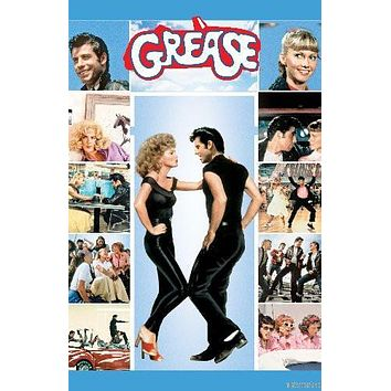 Grease Movie poster Metal Sign Wall Art 8in x 12in