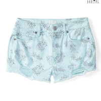 Tokyo Darling Pineapple Destroyed Denim Shorty Shorts