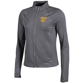 UNIVERSITY OF IOWA HAWKEYES Under Armour UA Women's Full Zip Fleece Jacket