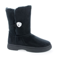 Tahoe14 Crystal Button Faux Fur Ankle Winter Boots