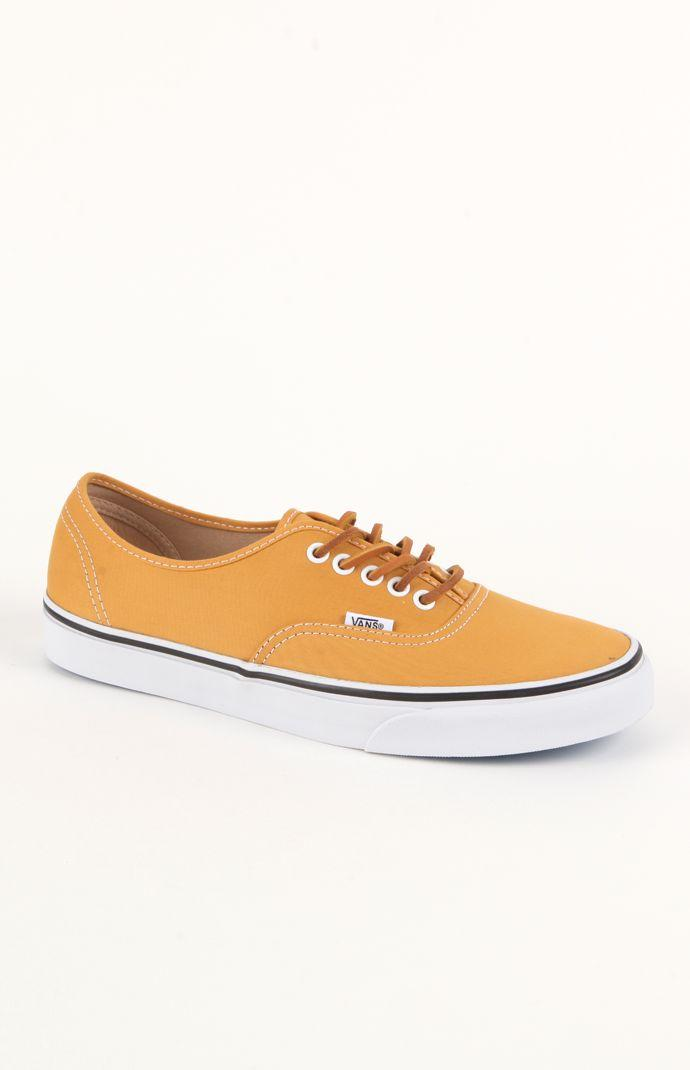 Vans Authentic Brushed Yellow Twill Shoes - Mens Shoes - Yellow 955400e0c