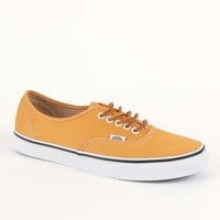 Vans Authentic Brushed Yellow Twill Shoes - Mens Shoes - Yellow