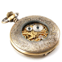 Vintage Copper Round Shape Pocket Watch