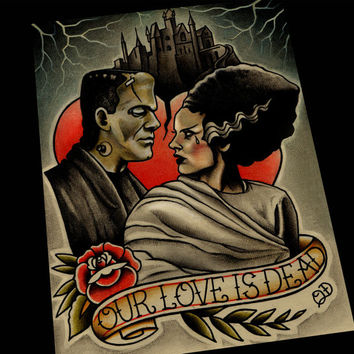 Our Love is Dead Art Print