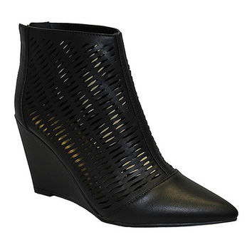 Michael Antonio Black Cindy Wedge Bootie | zulily