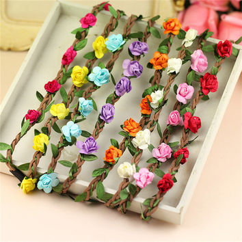 8pcs/lot Boho Style Floral Flower Women Girls Hair  Headbands  band  Festival Party Wedding hair accessories for girls lot