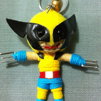Wolverine the X Men Voodoo String Doll Funny Keyring Keychain Key Ring Key Chain Bag Car