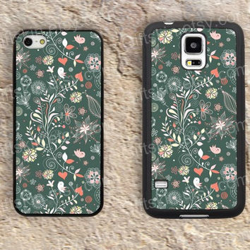 Flowers case bird case iphone 4 4s iphone  5 5s iphone 5c case samsung galaxy s3 s4 case s5 galaxy note2 note3 case cover skin 135