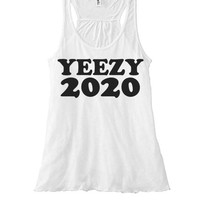 Yeezy For 2020 Womens Racer Back | Yeezy Presidential Campaign | Vote For Pedro and Yeezy | My President is Black | D. Trumps Running Mate